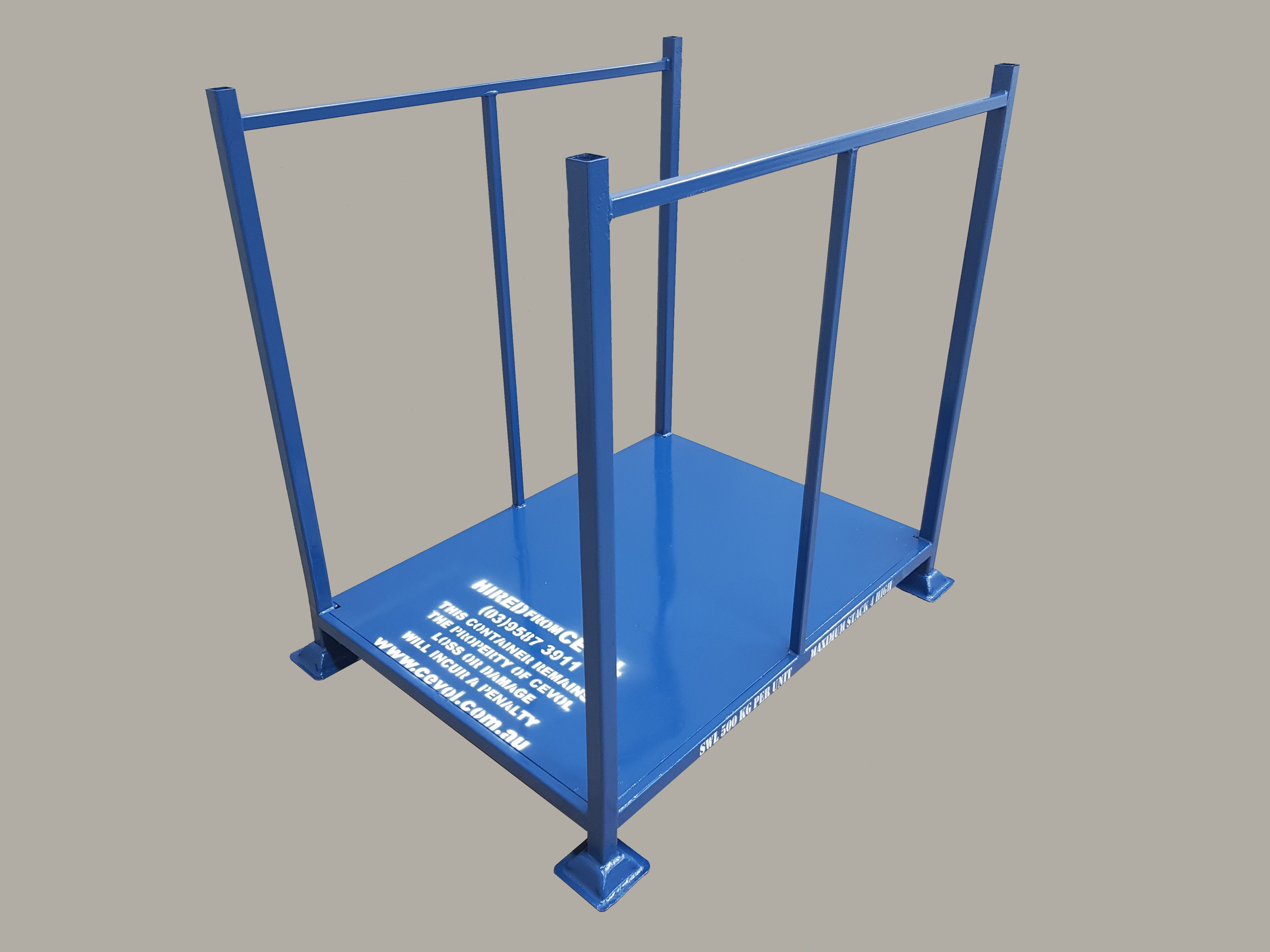 D-Long Open pallet with fixed end frames on long sides