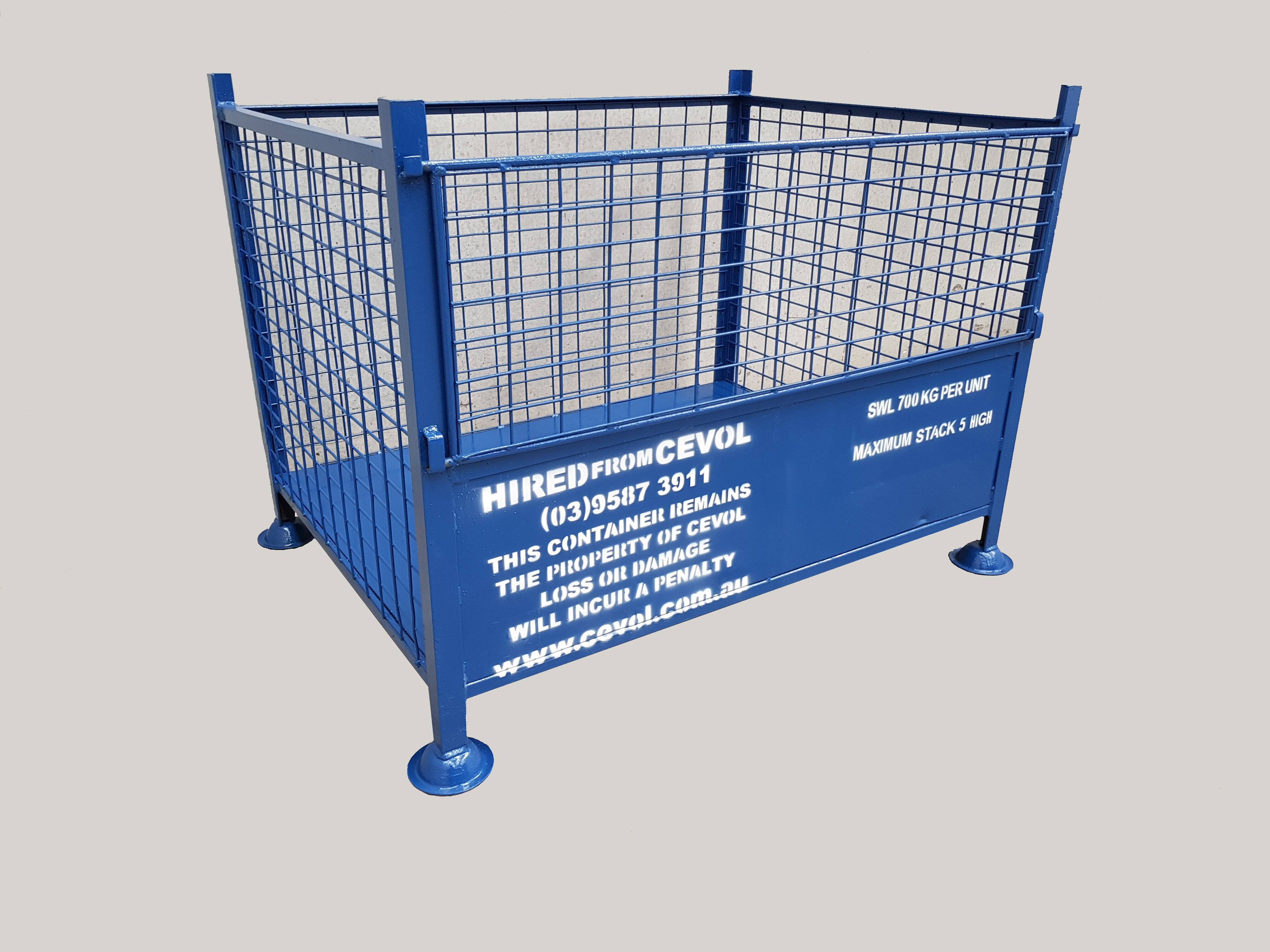 SM.1 - All Mesh Pallet with half drop front gate