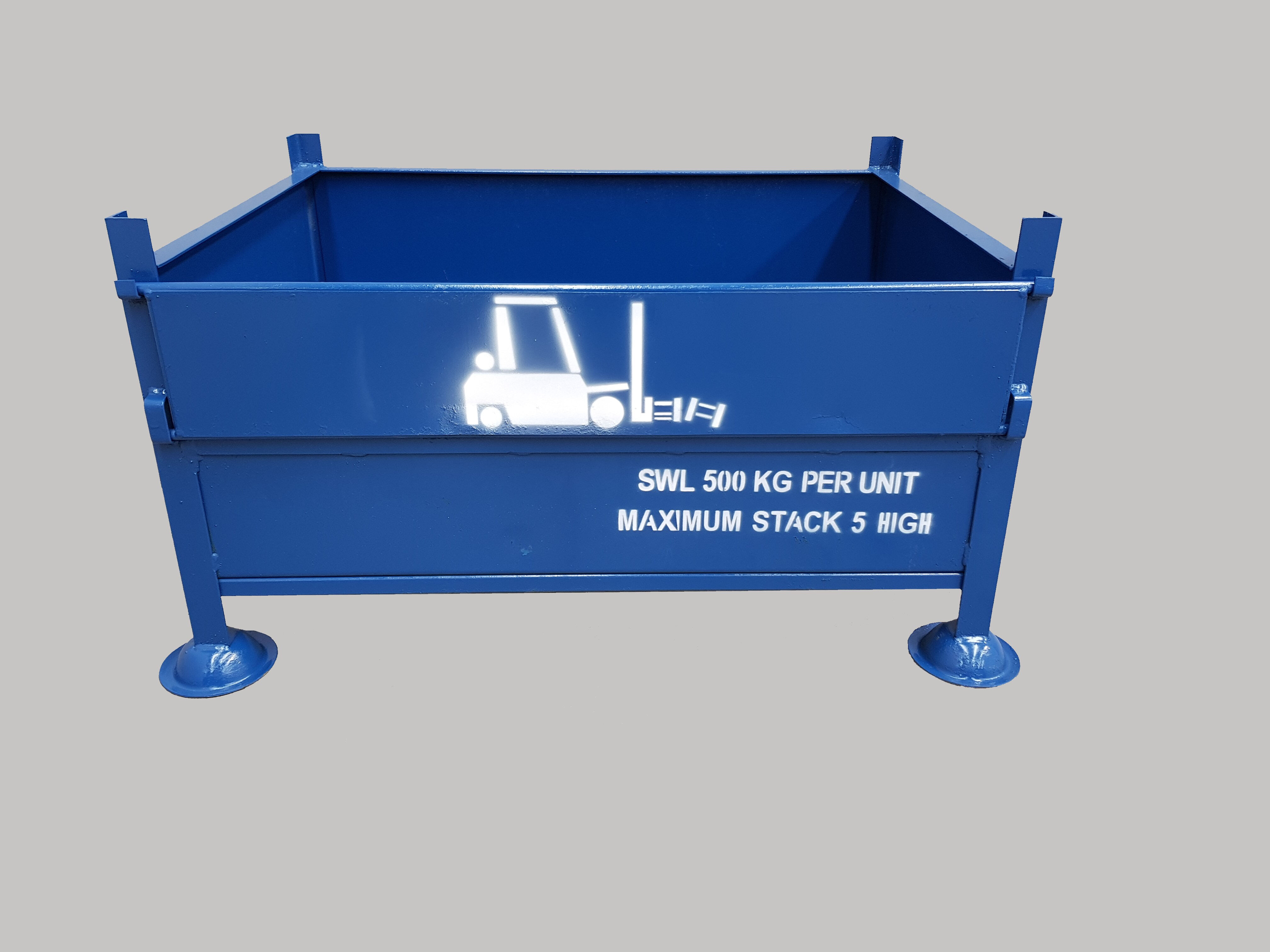 SS.3 All sheet pallet with half drop front gate.  Small parts