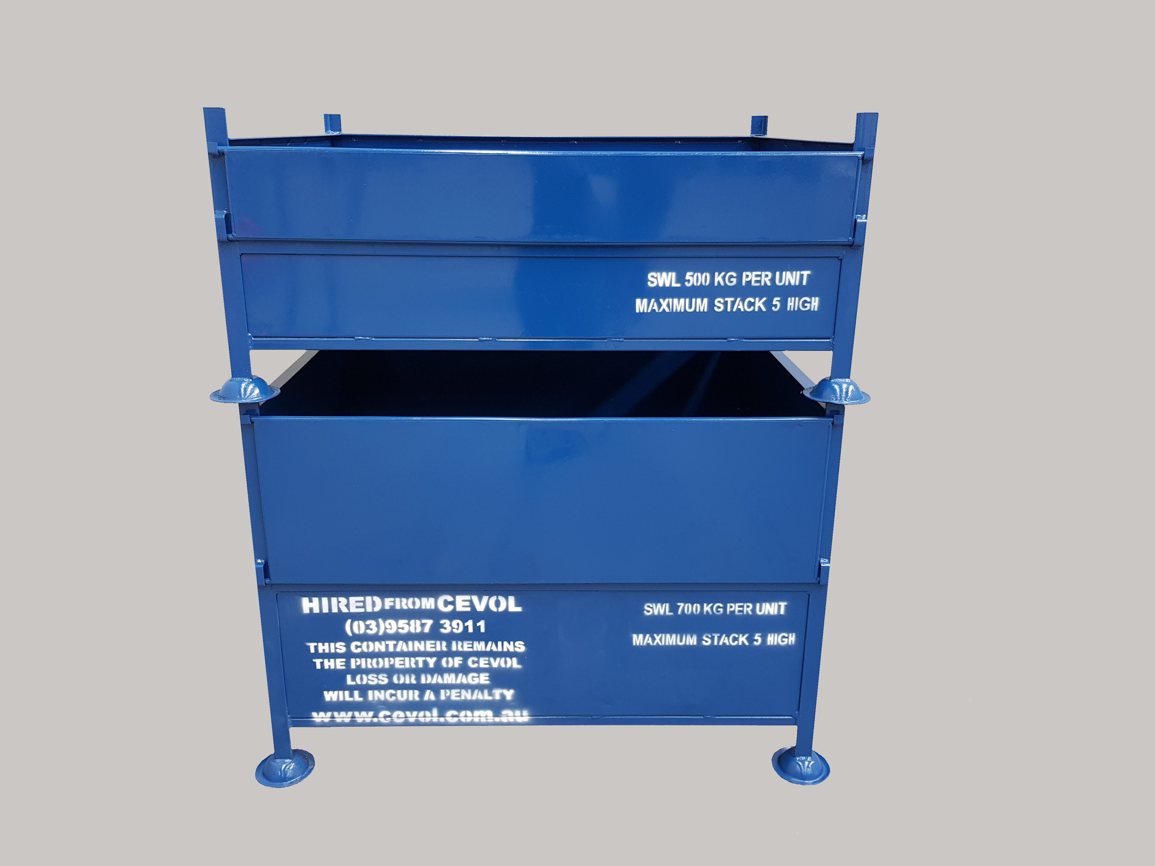 SS.1 All Sheet Pallet with half drop front gate
