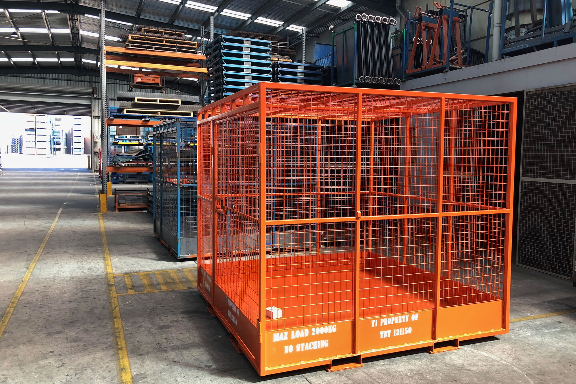 Cevol Custom made commercial grade Steel Wire Security Cages and Stillages