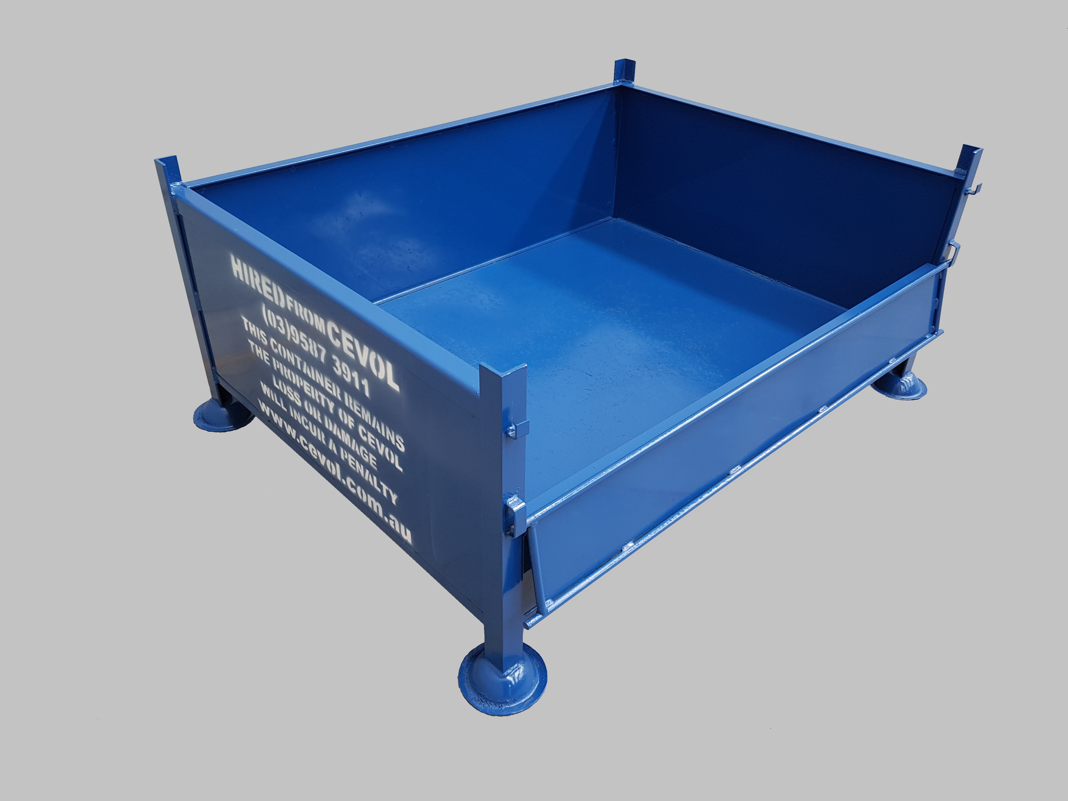 SS.2 All Sheet Pallet with half drop front gate.