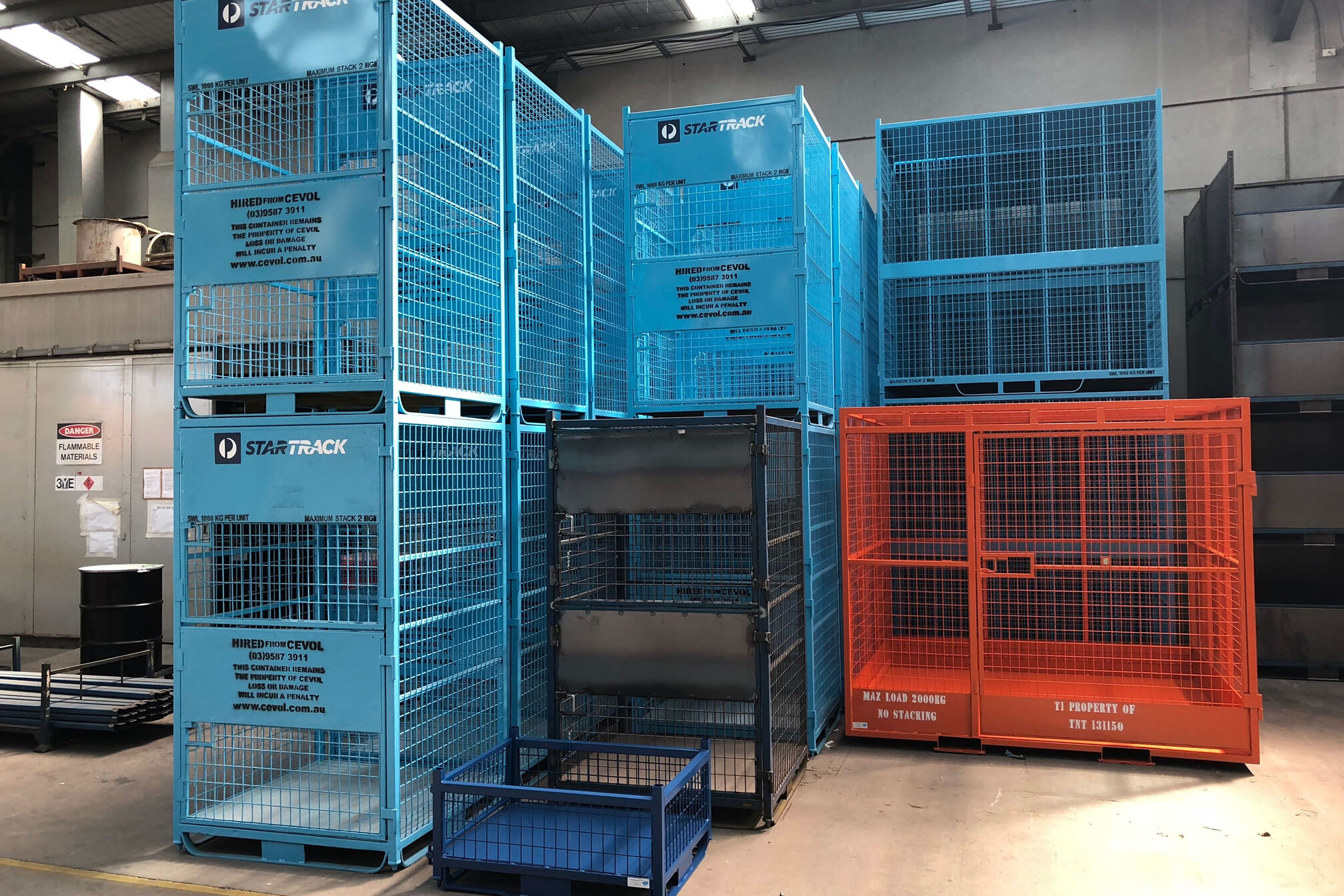 Custom made Steel Wire Cages, commercial grade