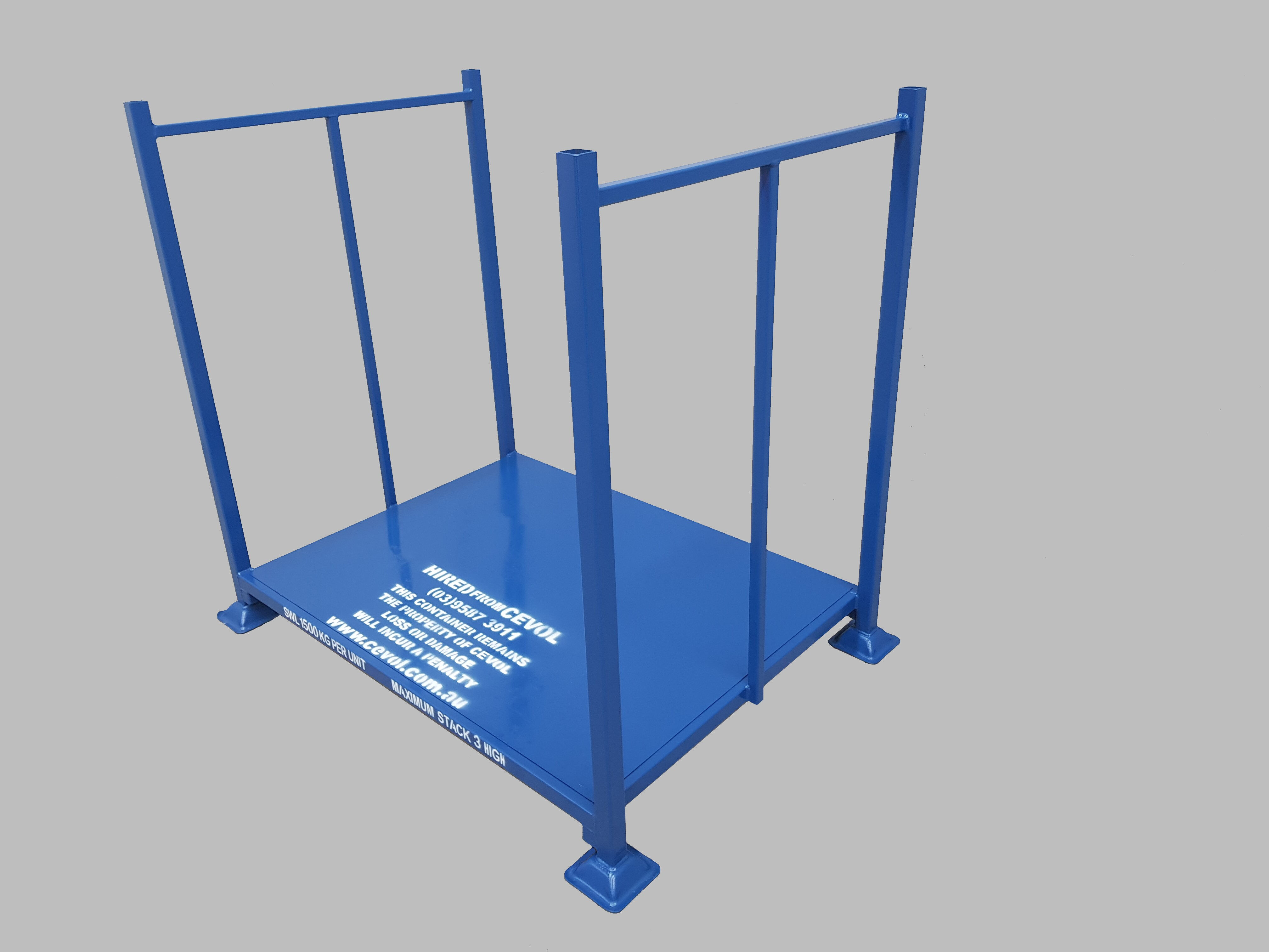 DWP - Open pallet with fixed end frames for storing wooden pallets