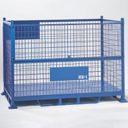 Steel Mesh Pallet with half drop front gate.