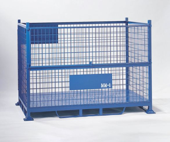 Steel Mesh Pallet with half drop front gate.