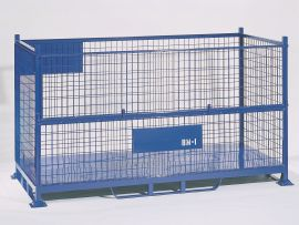 BMI Bulk Steel Mesh Pallet & Bulk Sheet Stillage with half drop gate