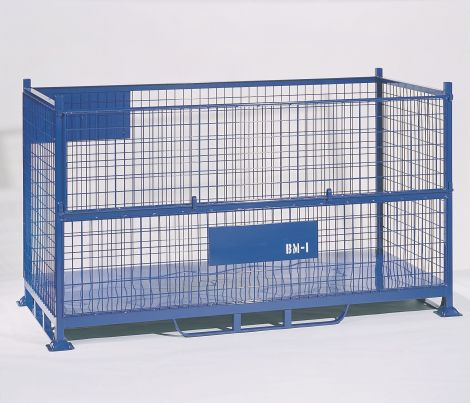 BMI Bulk Steel Mesh Pallet & Bulk Sheet Stillage with half drop gate