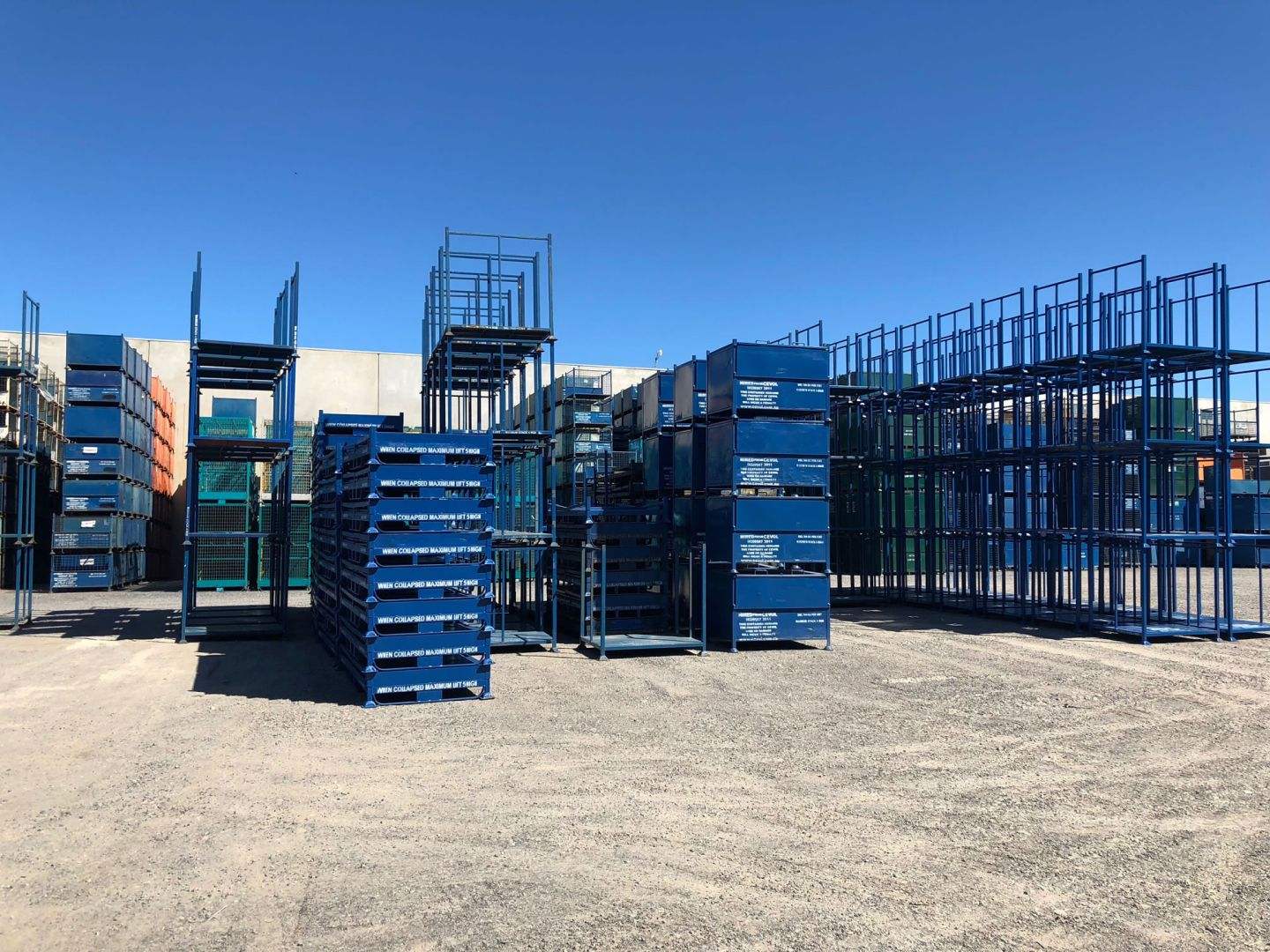 Stackable Steel Pallets and Cages for commercial use